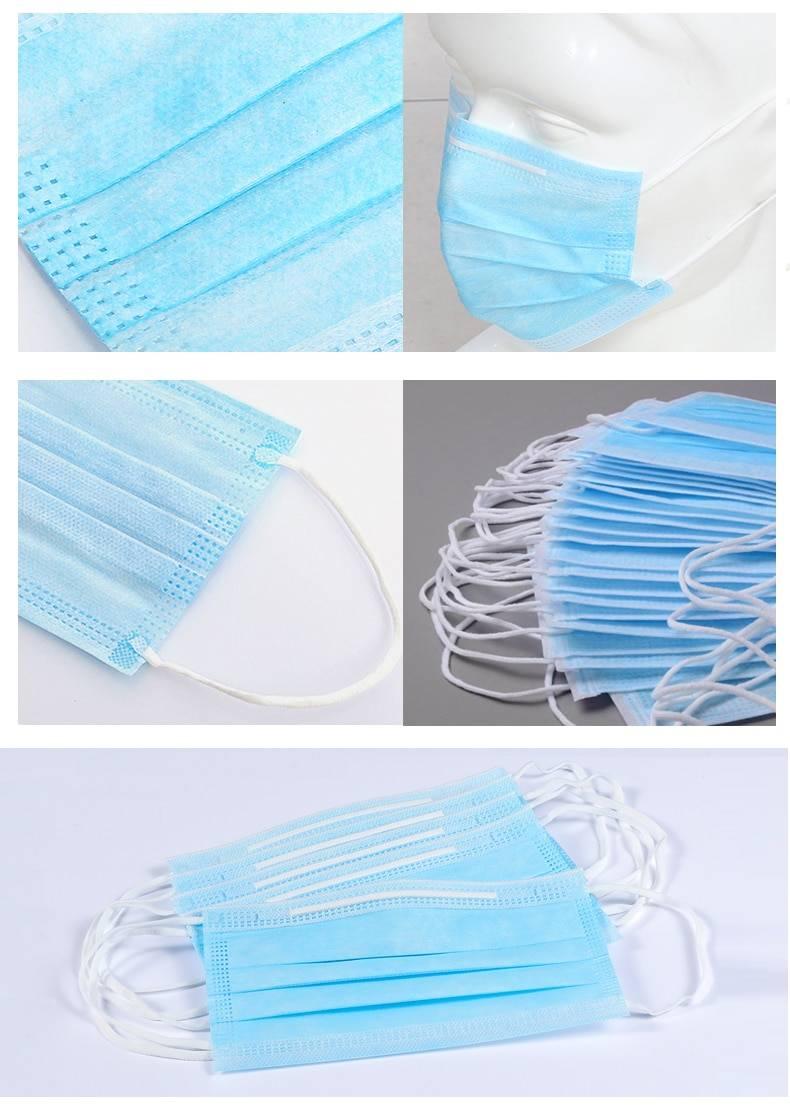 Blue Disposable Face Protective Masks 10 - 100 pcs Set