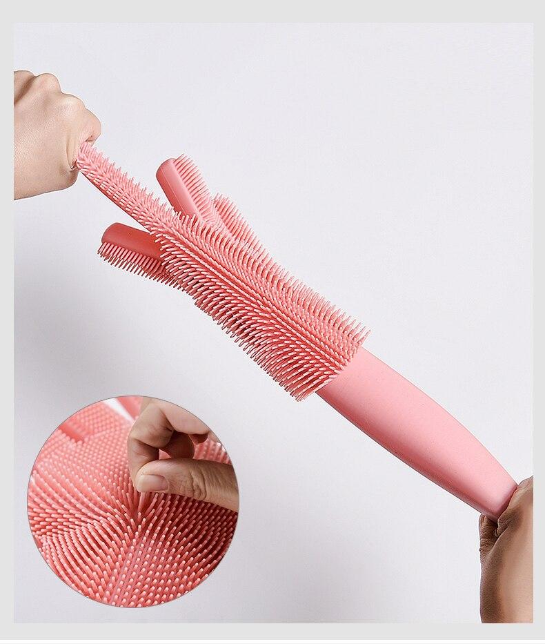 Silicone Dishwashing Scrubber Gloves